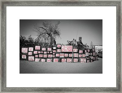Television Framed Print by Ralph Vazquez