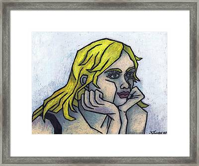 Tell Me More Framed Print