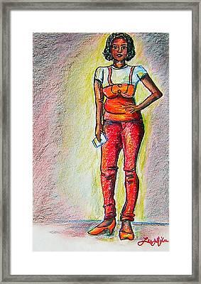 Tell Me Something Good Framed Print by Lee Nixon