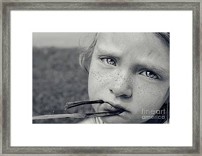 Tell Me What's Wrong Framed Print by Aimelle