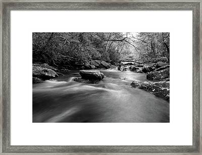 Tellico Waters In Black And White Framed Print