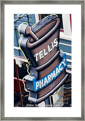 Tellis Pharmacy/ King Street Framed Print