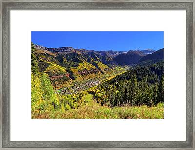 Framed Print featuring the photograph Telluride In Autumn - Colorful Colorado - Landscape by Jason Politte
