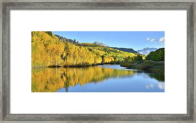 Framed Print featuring the photograph Telluride Mountain Lake by Ray Mathis