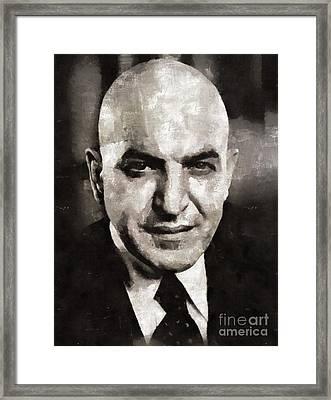Telly Savalas, Actor - Kojak Framed Print