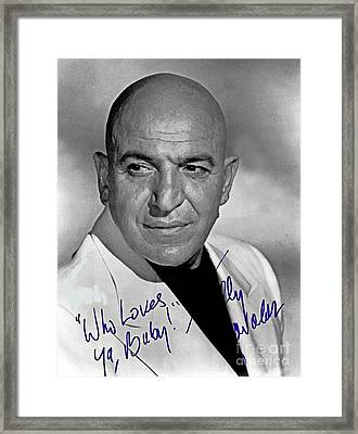 Telly Savalas Autographed Photograph Framed Print by Pd