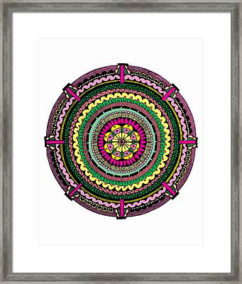 Temblor Framed Print by Elizabeth Davis