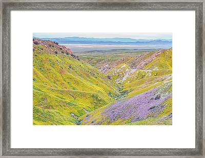 Framed Print featuring the photograph Temblor Range View To Caliente Range by Marc Crumpler