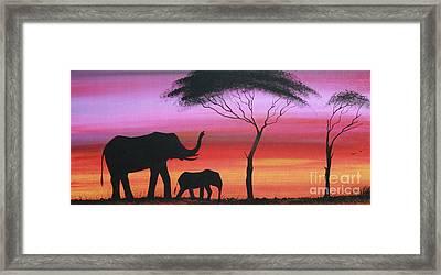 Tembo Framed Print by Abu Artist