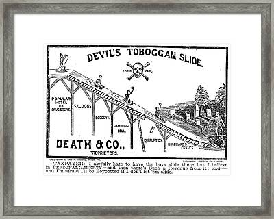 Temperance Movement 1887 Framed Print by Granger