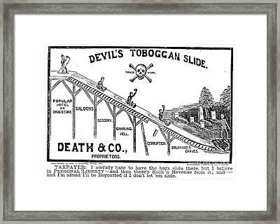 Temperance Movement 1887 Framed Print by Granger