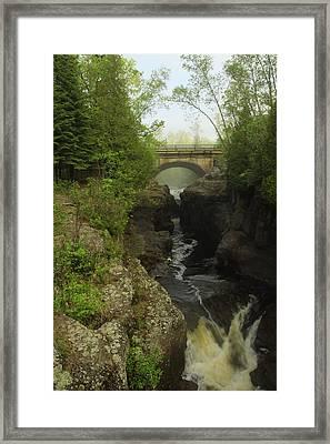 Temperance River Fog Framed Print by Joi Electa