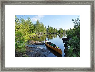 Temperance River Portage Framed Print by Larry Ricker