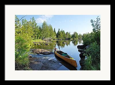 Boundary Waters Canoe Area Wilderness Framed Prints