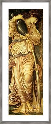Temperantia, Framed Print by Edward Coley Burne-Jones