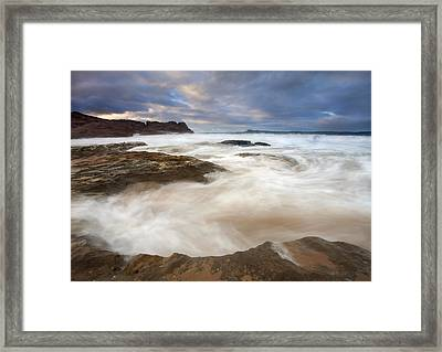 Tempestuous Sea Framed Print