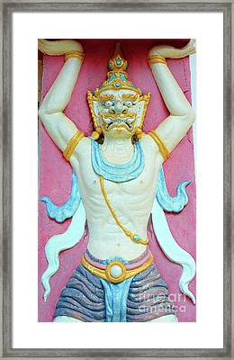 Temple Art In Thailand Framed Print