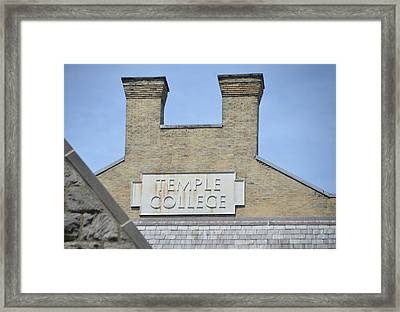 Temple College Framed Print by Bill Cannon