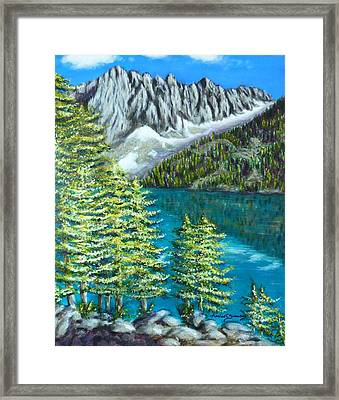Framed Print featuring the painting Temple Crag by Amelie Simmons