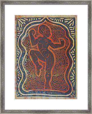 Temple Dancer Framed Print by Diana Blackwell