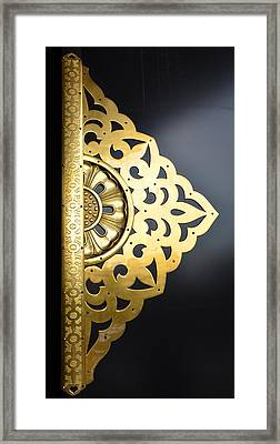 Temple Detail Framed Print by Corinne Rhode