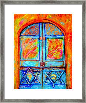Temple Door Framed Print
