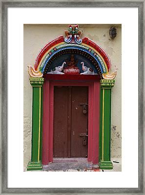 Temple Door Framed Print by Deepak Pawar