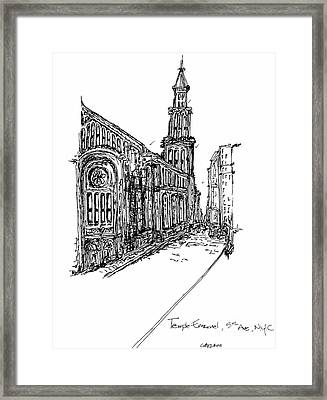 Temple Emanuel Framed Print by Pamela Canzano