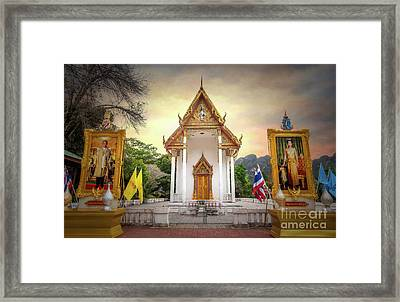 Temple Entrance Framed Print by Adrian Evans