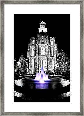 Temple Fountain  Framed Print by David Andersen