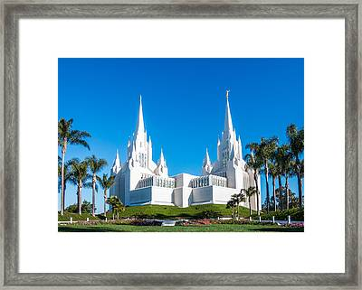 Temple Glow Framed Print