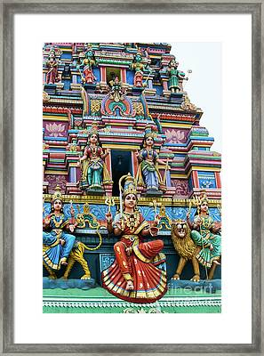 Temple Gopuram Framed Print