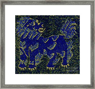 Temple Guard Framed Print