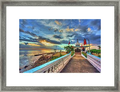 Temple In The Sea Framed Print