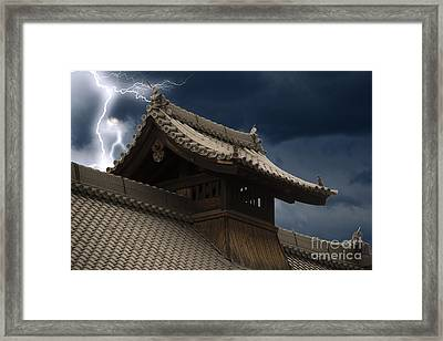 Temple In The Sky Framed Print