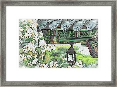 Temple Light Framed Print