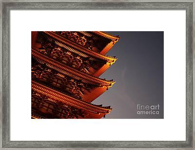 Temple Lights Framed Print by Carol Groenen