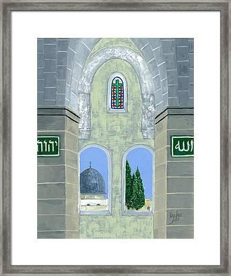 Temple Mount Framed Print