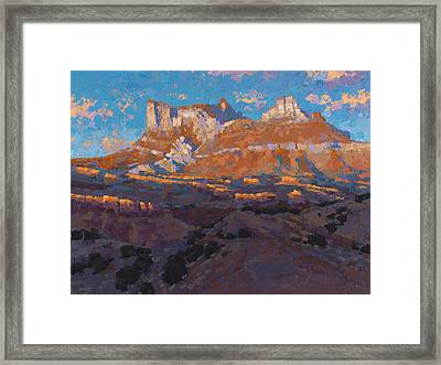 Temple Mountain Tapestry Framed Print