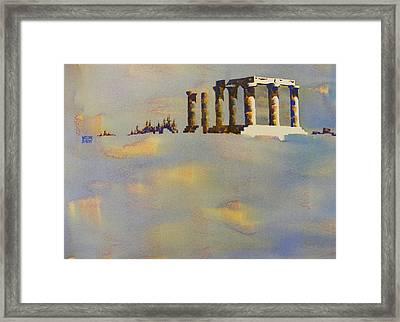Temple Of Apollo Corinth Greece Framed Print