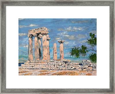 Temple Of Apollo  Framed Print by Dan Bozich