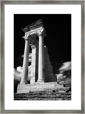 Temple Of Apollo Hylates In The Sanctuary Of Apollon Ylatis At Kourion Archeological Site Cyprus Framed Print