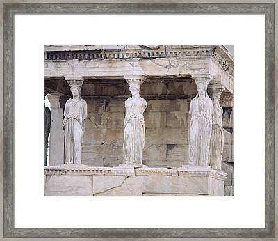 Temple Of Athena Nike Erectheum Framed Print by Panoramic Images