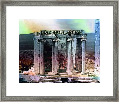 Temple Of Athena Framed Print by Robert G Kernodle