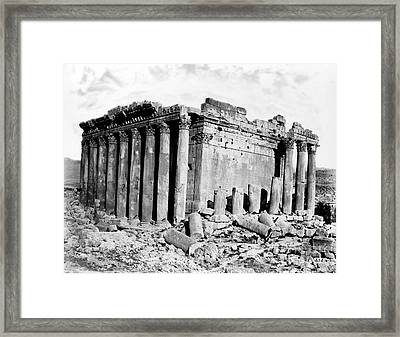 Temple Of Bacchus, Baalbek, 19th Century Framed Print by Science Source