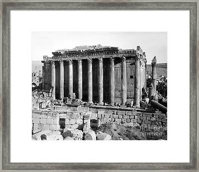Temple Of Bacchus, Baalbek, Early 20th Framed Print by Science Source