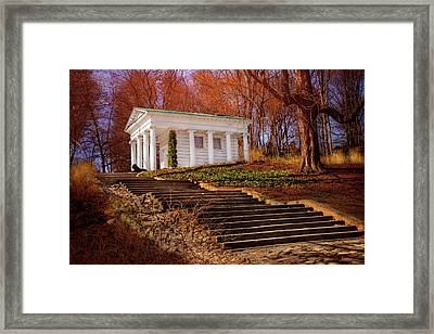 Temple Of Diana Lazienki Park Warsaw  Framed Print