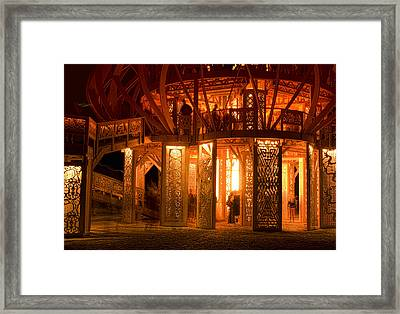 Temple Of Fire Framed Print by Michael Cleere