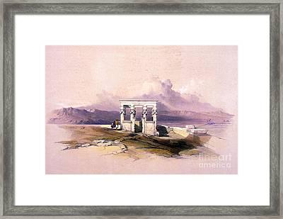 Temple Of Hathor, 1930s Framed Print