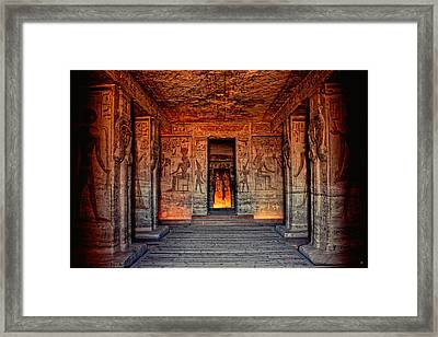 Temple Of Hathor And Nefertari Abu Simbel Framed Print
